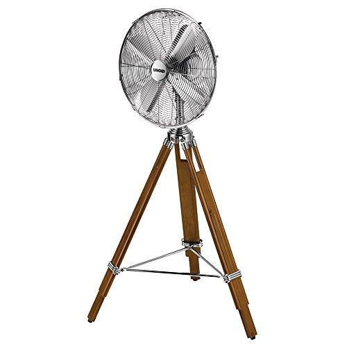 Unold 86895 Standventilator Kolonial mit Chrom-Ventilatorkopf und edlem Dreifuß aus Kiefer