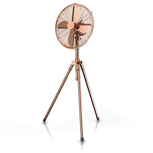 Brandson Standventilator im modernen Kupfer-Design mit 60 Watt Leistung