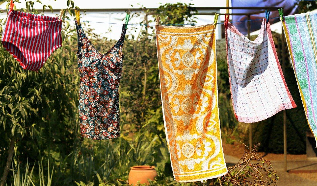 Garten Wäscheleine Handtuch Badeanzug Wäsche