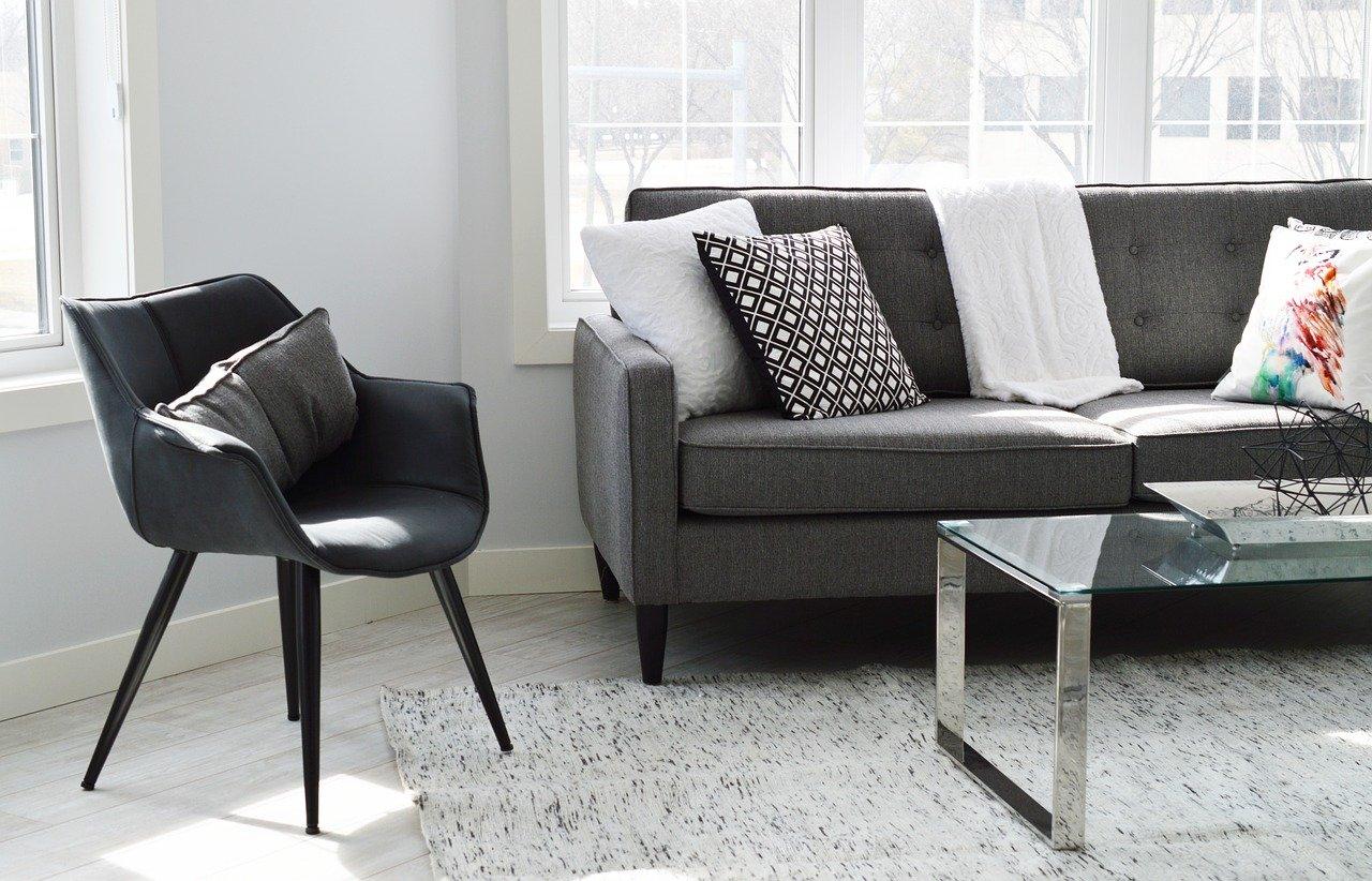 Wohnzimmer Couch Sofa Sessel Kissen